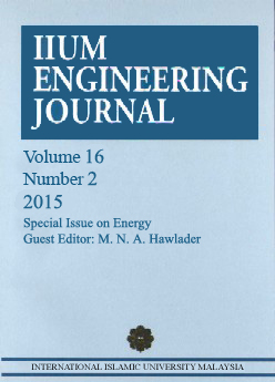 View Vol. 16 No. 2 (2015): Special Issue on Energy