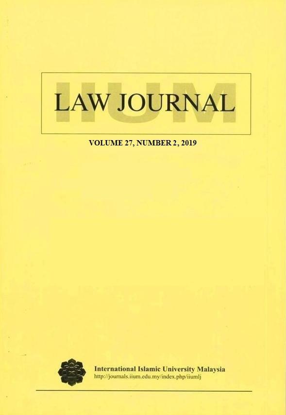 View Vol. 27 No. 2 (2019): IIUM LAW JOURNAL