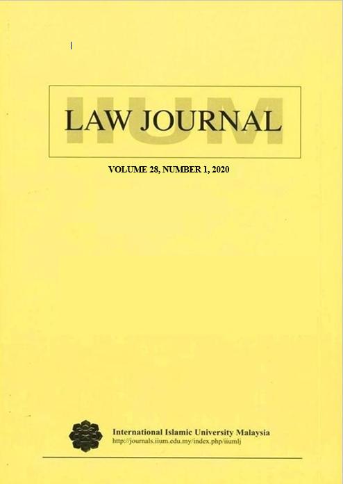 View Vol. 28 No. 1 (2020): IIUM Law Journal