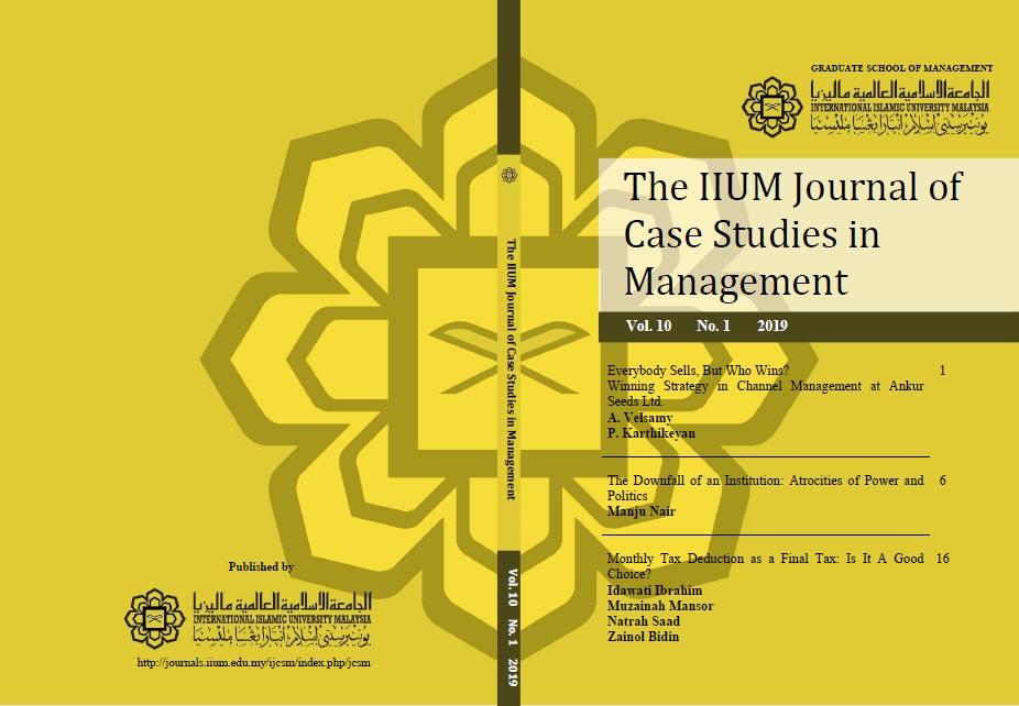 View Vol. 10 No. 1 (2019): IIUM Journal of Case Studies in Management Vol.10, No.1, 2019