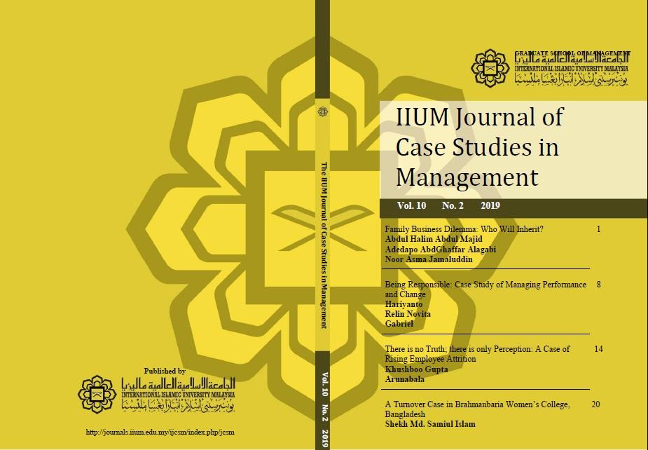 View Vol. 10 No. 2 (2019): IIUM Journal of Case Studies in Management