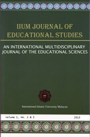 IIUM JOURNAL OF EDUCATIONAL STUDIES
