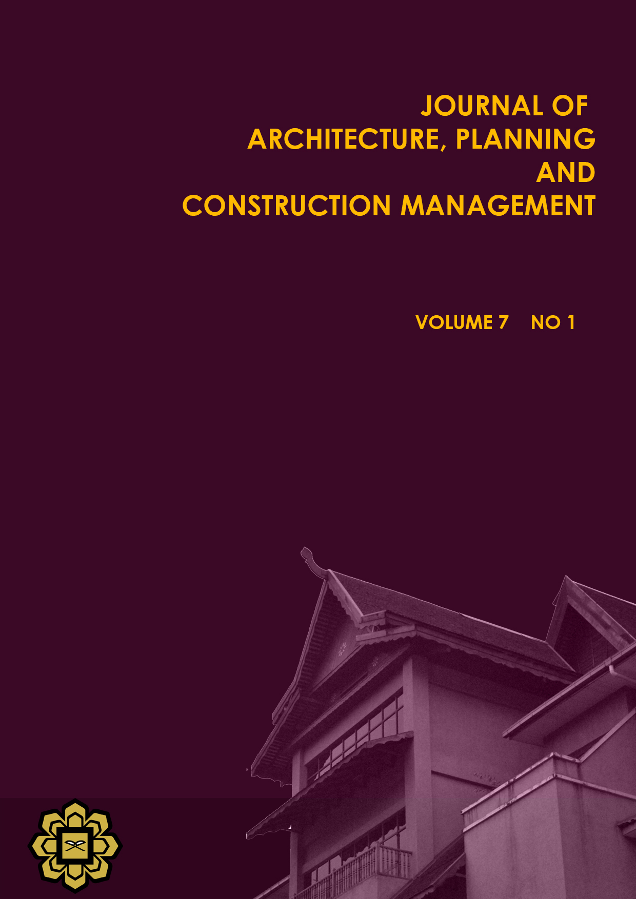 View Vol. 7 No. 1 (2017): Journal of Architecture, Planning and Construction Management