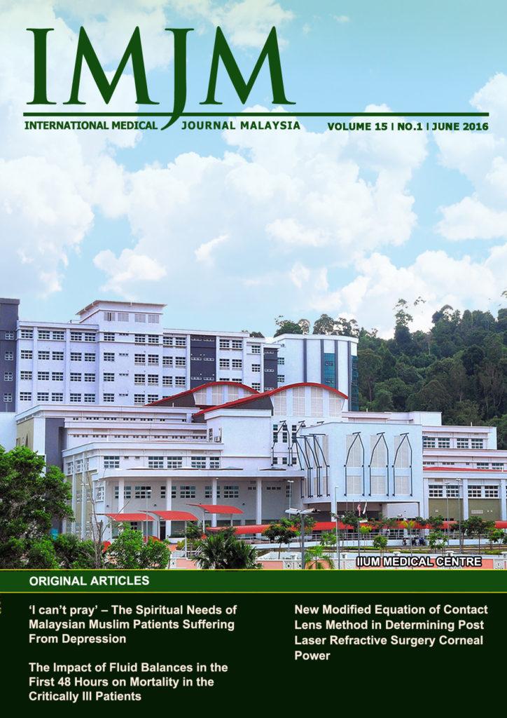 View Vol. 15 No. 1 (2016): IIUM Medical Journal Malaysia - June 2016