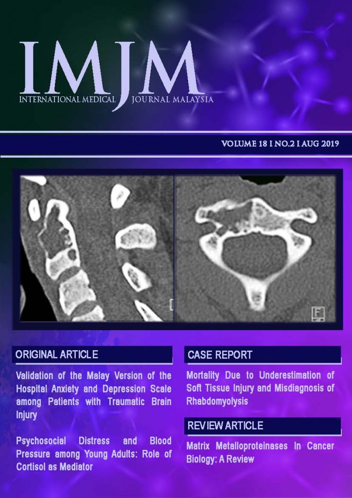 View Vol. 18 No. 2 (2019): IIUM Medical Journal Malaysia - August 2019
