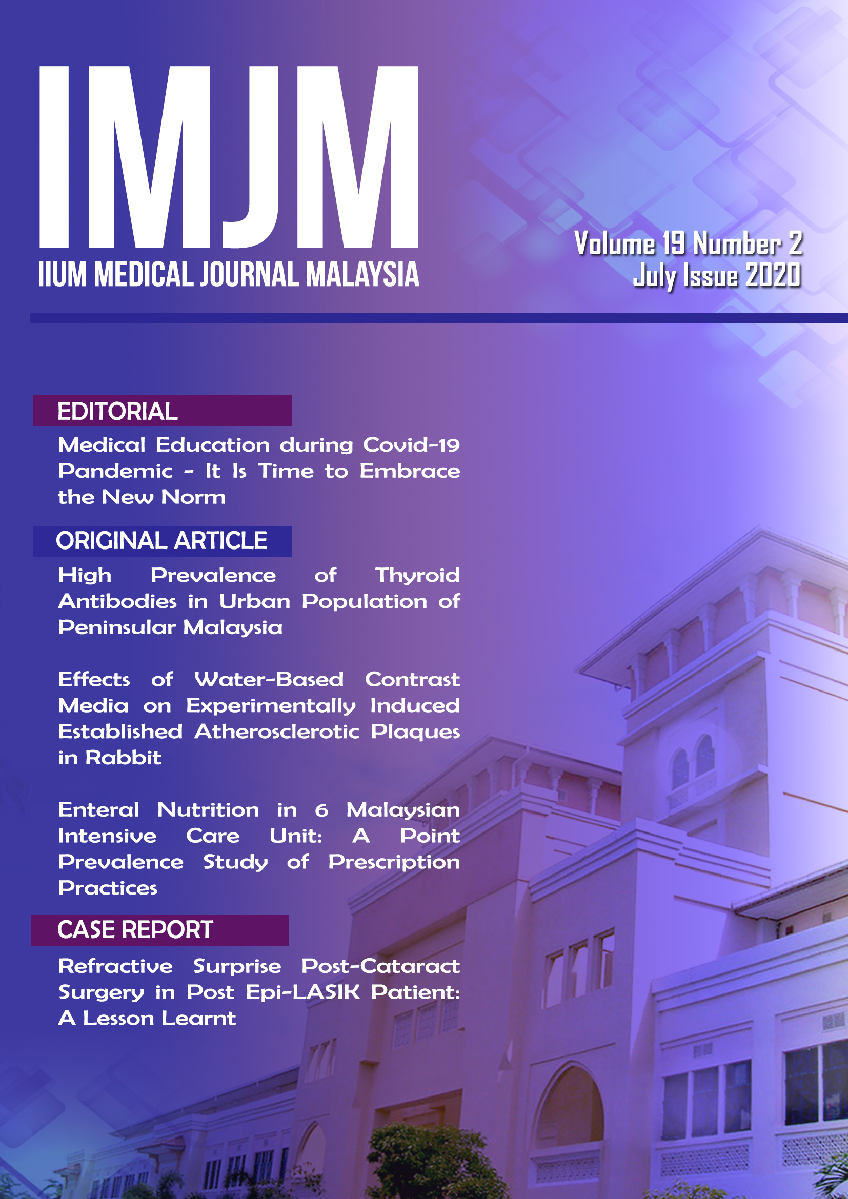 View Vol. 19 No. 2 (2020): IIUM Medical Journal Malaysia - July 2020