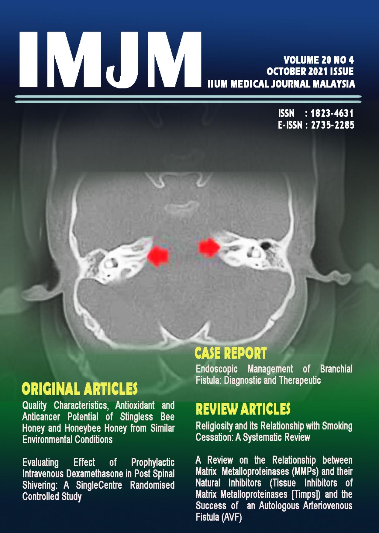 View Vol. 20 No. 4 (2021): IIUM Medical Journal Malaysia - October 2021