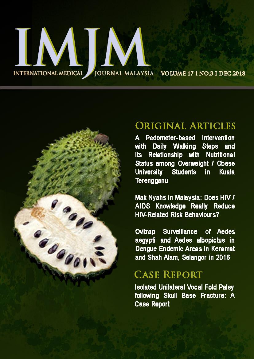 View Vol. 17 No. 3 (2018): IIUM Medical Journal Malaysia - December 2018