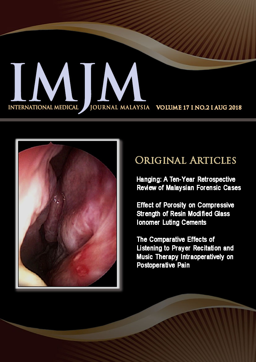View Vol. 17 No. 2 (2018): IIUM Medical Journal Malaysia - August 2018