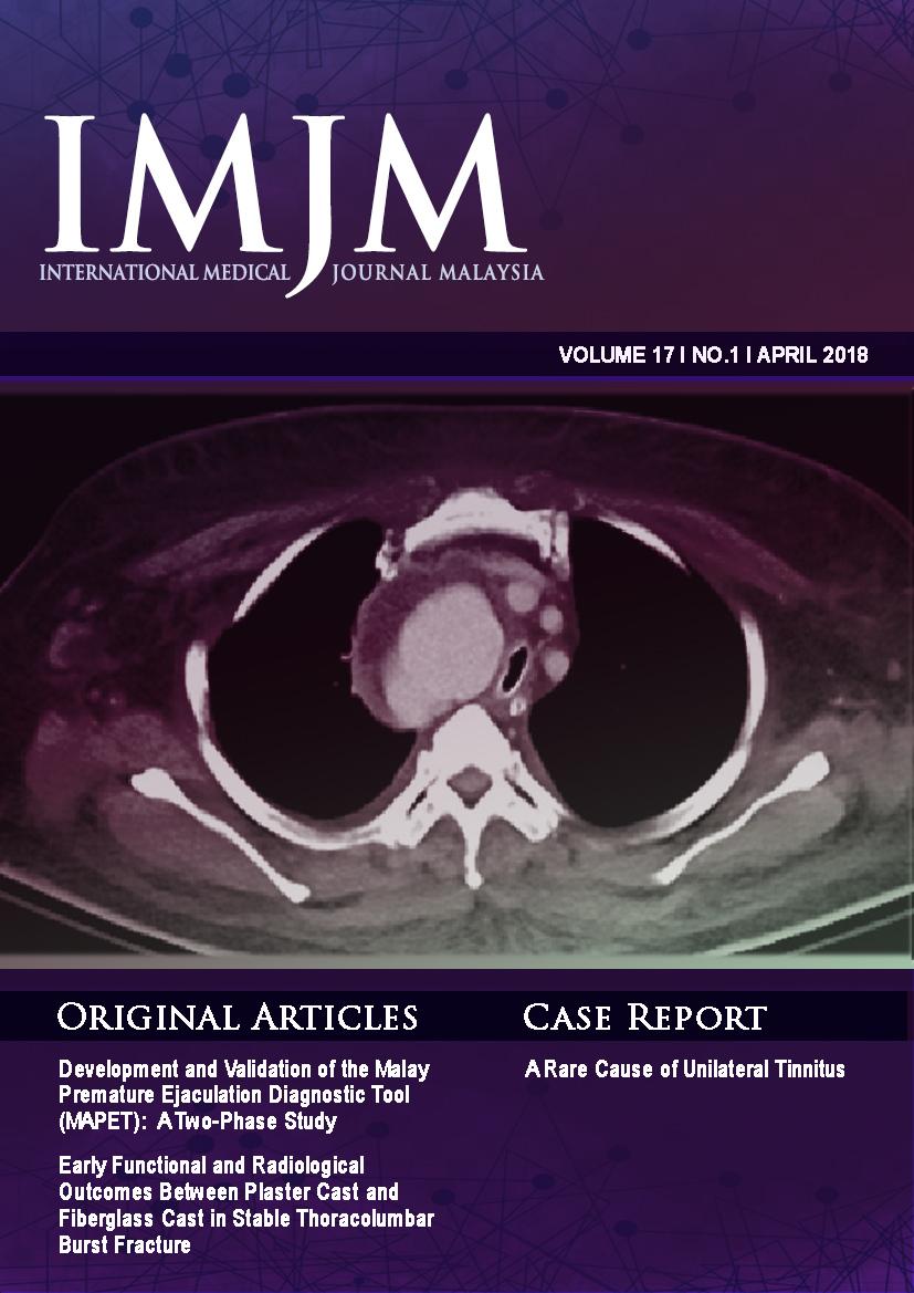 View Vol. 17 No. 1 (2018): IIUM Medical Journal Malaysia - April 2018