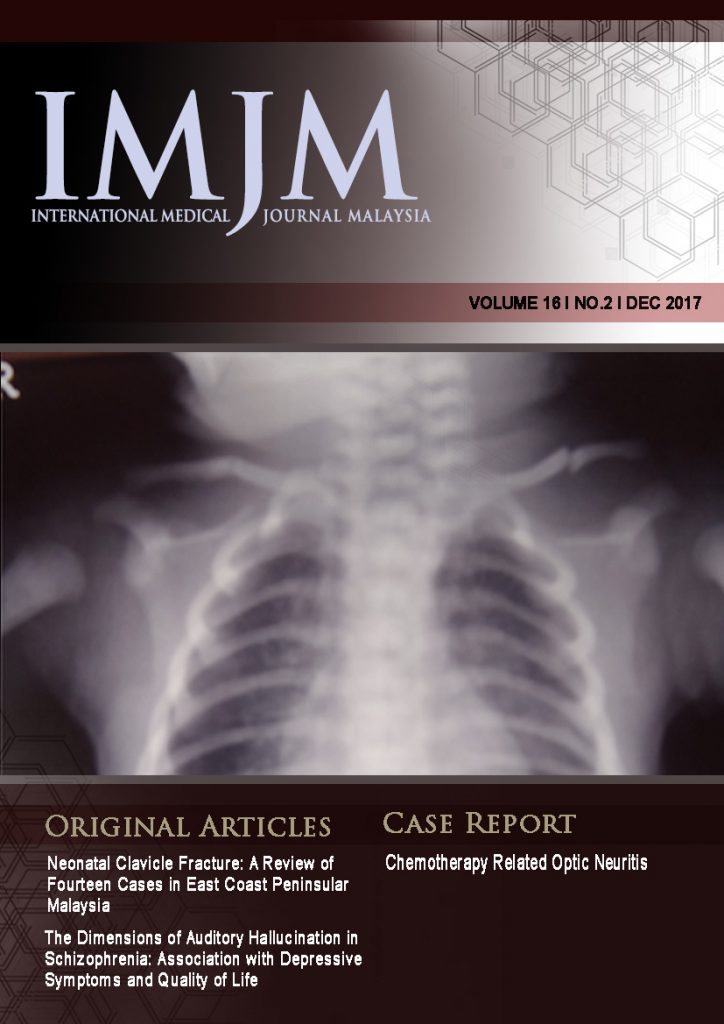 View Vol. 16 No. 2 (2017): IIUM Medical Journal Malaysia - December 2017