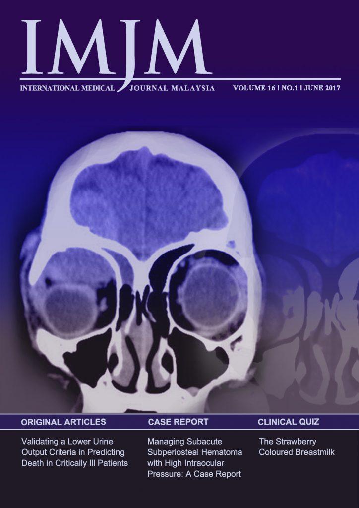 View Vol. 16 No. 1 (2017): IIUM Medical Journal Malaysia - June 2017