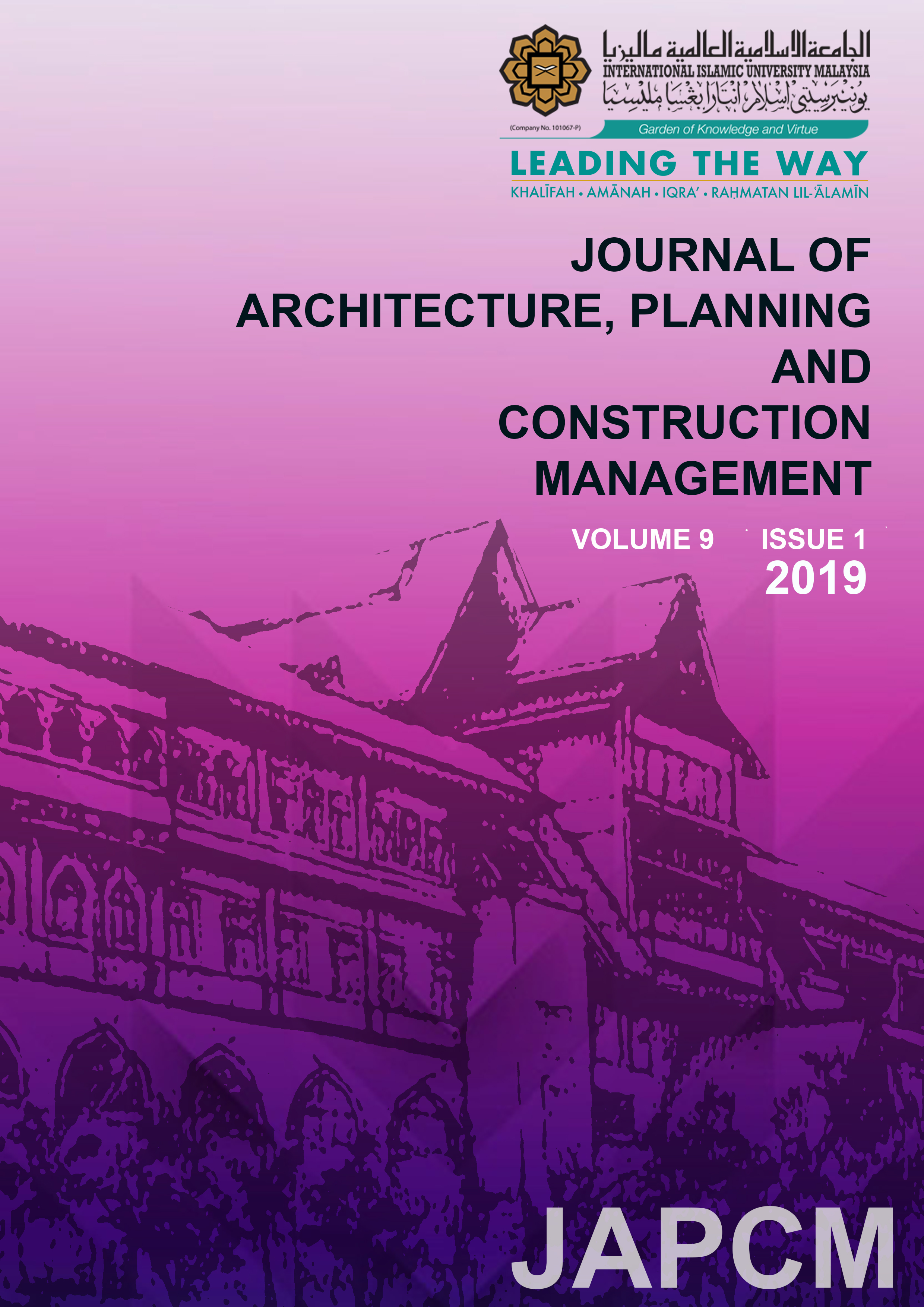 Journal of Architecture, Planning and Construction Management