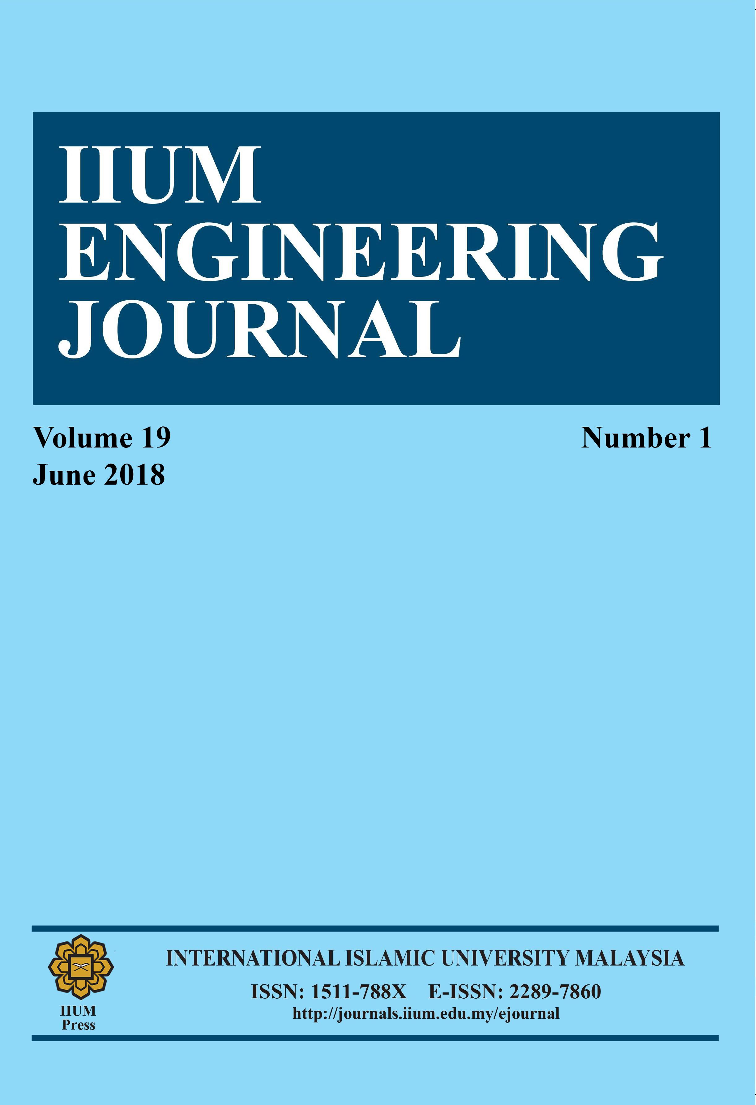 IIUM Engineering Journal, Vol.19 Is. 1, June 2018,